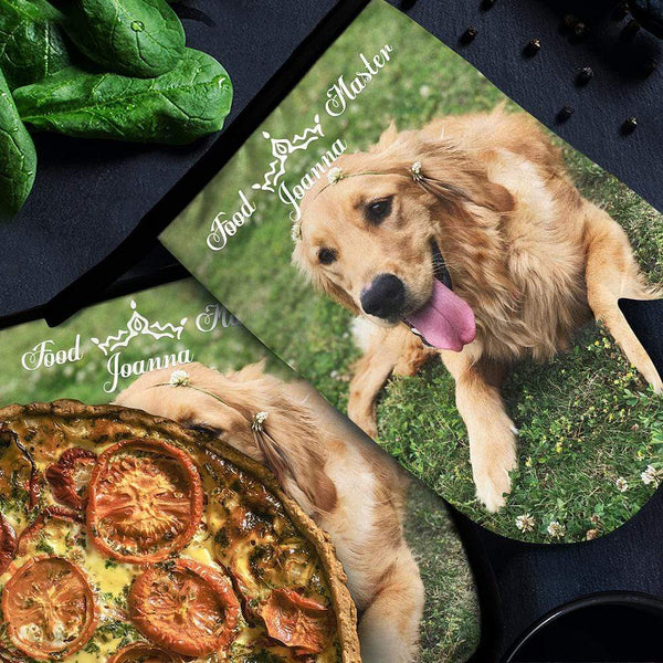 Custom Photo Oven Glove with Text Oven Mitts & Pot Holders Lovely Dog