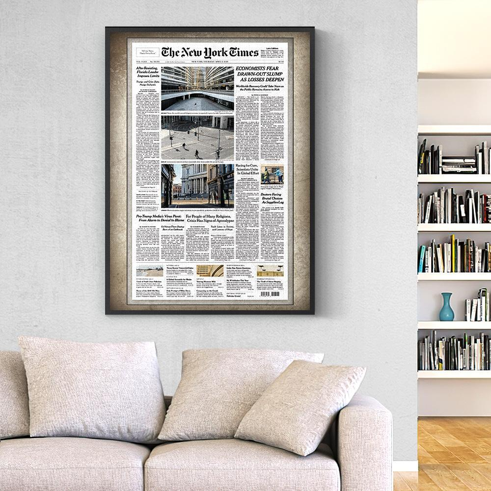Personalized The New York Times Canvas From A Specific Date -Your Memory Day(Online Preview)