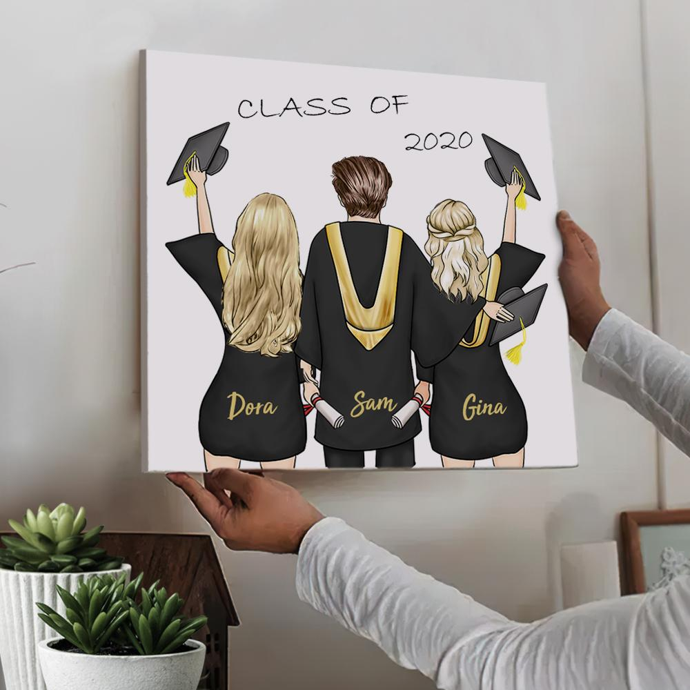 Custom Square Canvas - Graduation Gift (Online Design & Preview)