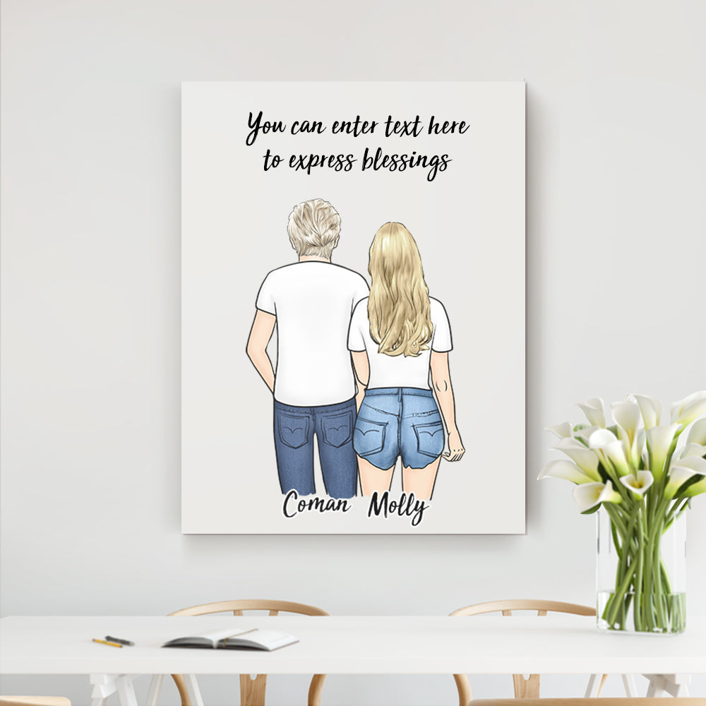 Custom Vertical Canvas - Best Gift For Family and Friends (Online Design & Preview)