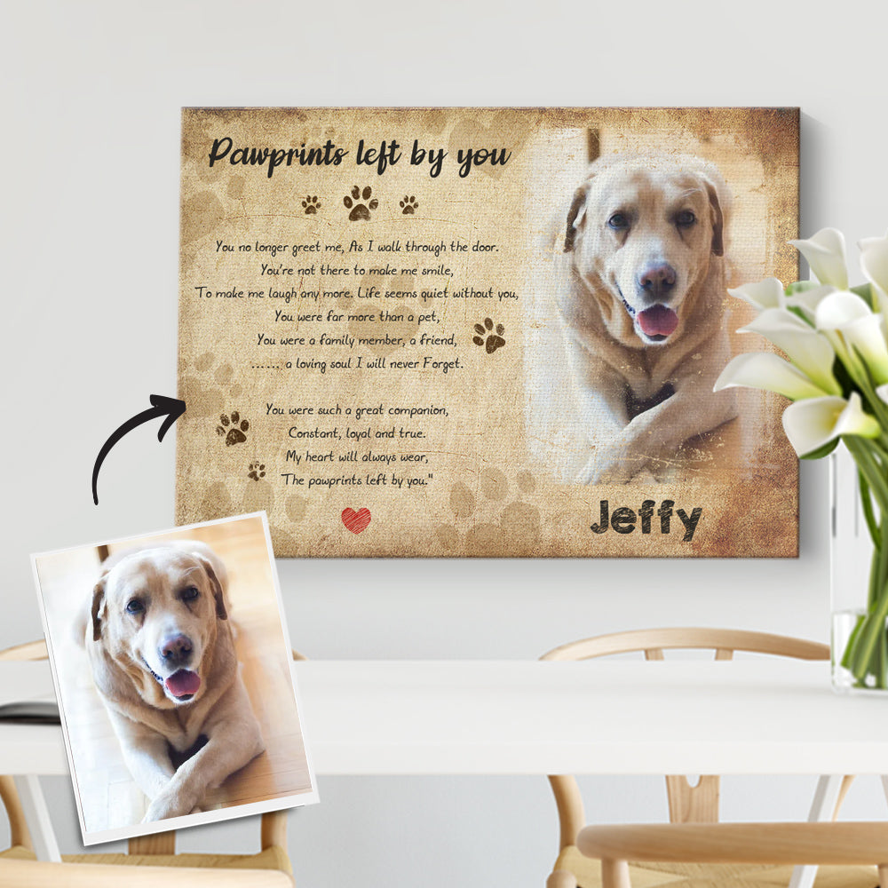 Photo Frame, Remembrance Gifts, Cat & Dog Memorial Gifts, Sympathy Gift for Loss of Dog-DIY Frame