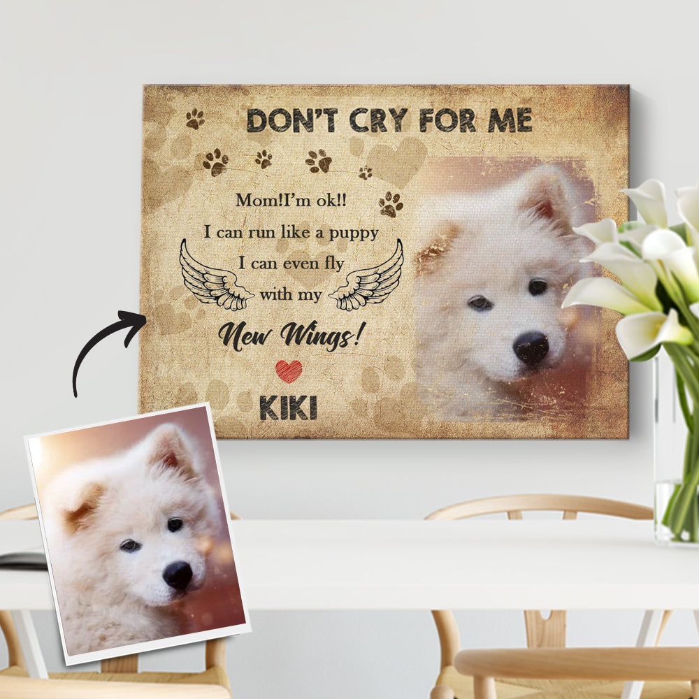 Custom No Longer By My Side, Forever In My Heart, Pet Memorial Picture DIY Frame