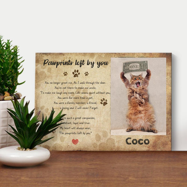 Custom GIFT SETS NOW FOREVER IN MY HEART DOG CAT PET MEMORIAL PHOTO FRAME