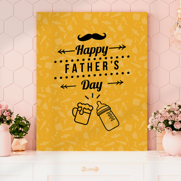 Happy Father's Day Vertical Painting Canvas-Cheers Painting Canvas