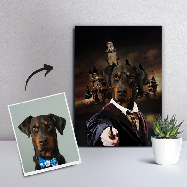Custom Pet Dog Canvas - The Magician-DIY Frame
