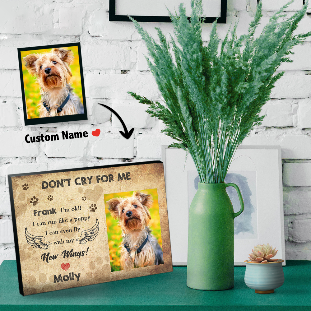 Personalise Pet Memorial Picture Frame -I Love You So Much (8*5)