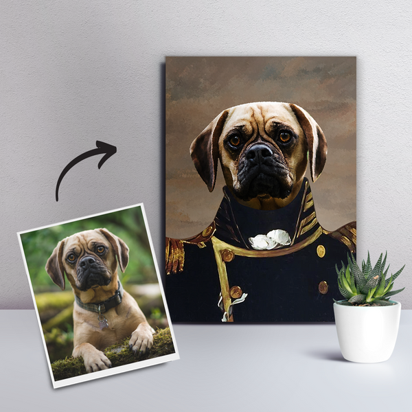 Custom Pet Dog Canvas - The Admiral