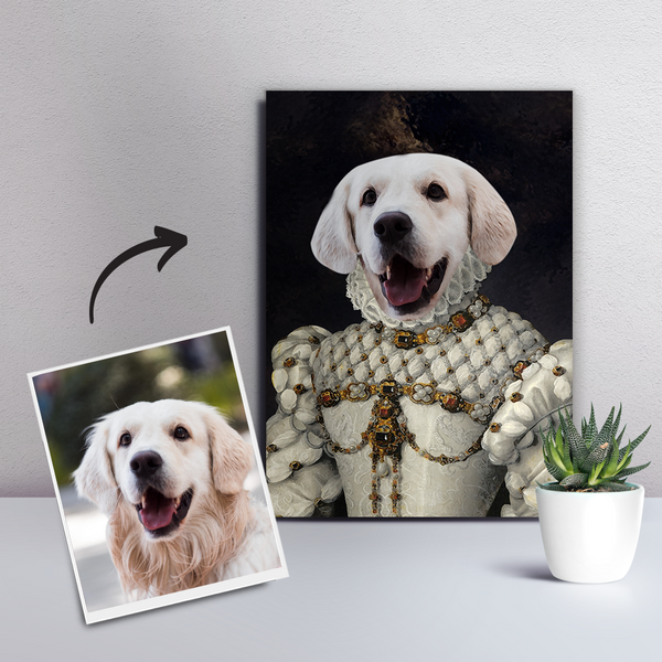 Custom Pet Dog Canvas - The Princess-DIY Frame