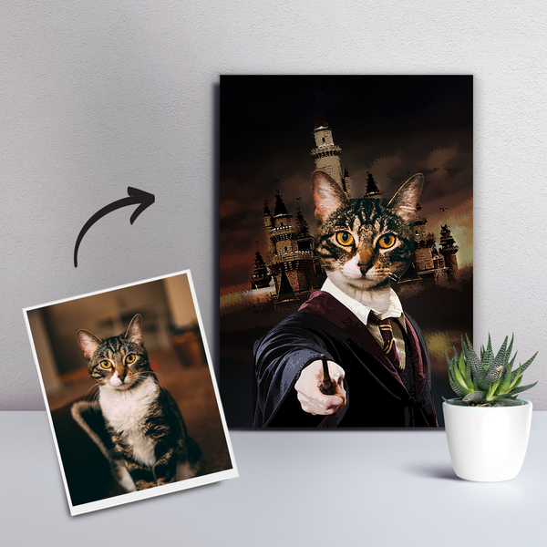 Custom Pet Cat Canvas - DIY Frame-The Magician