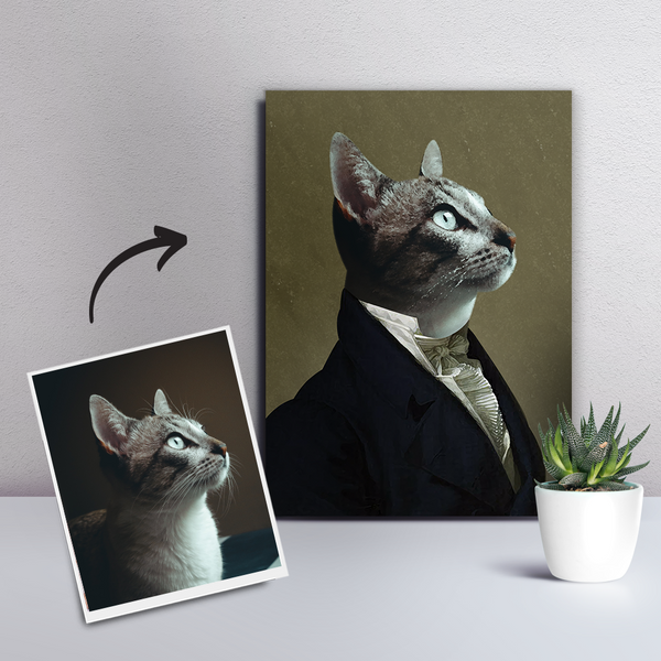 Custom Pet Cat Canvas - The Ambassador-DIY frame