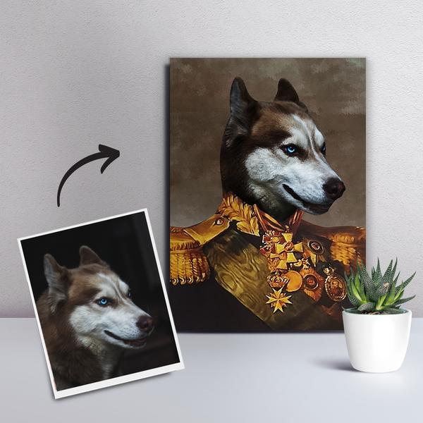 Custom Pet Dog Canvas - The General