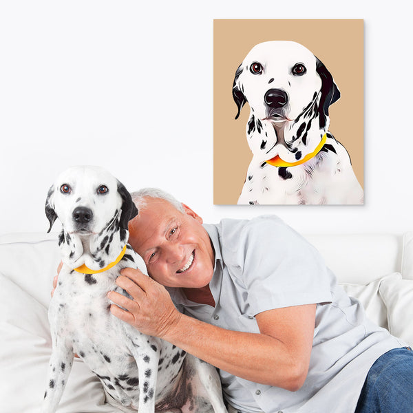 Custom Pet Canvas-Father Gift Idea