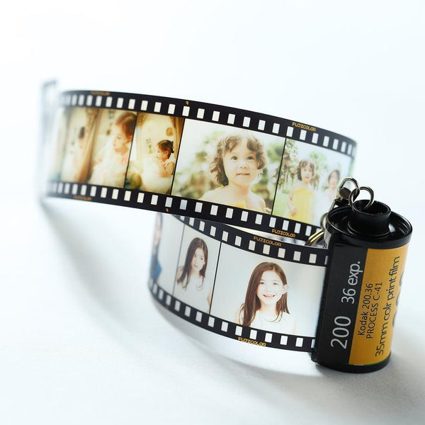 Custom Picture Keychain with Photo Reel Album - 5 Photos