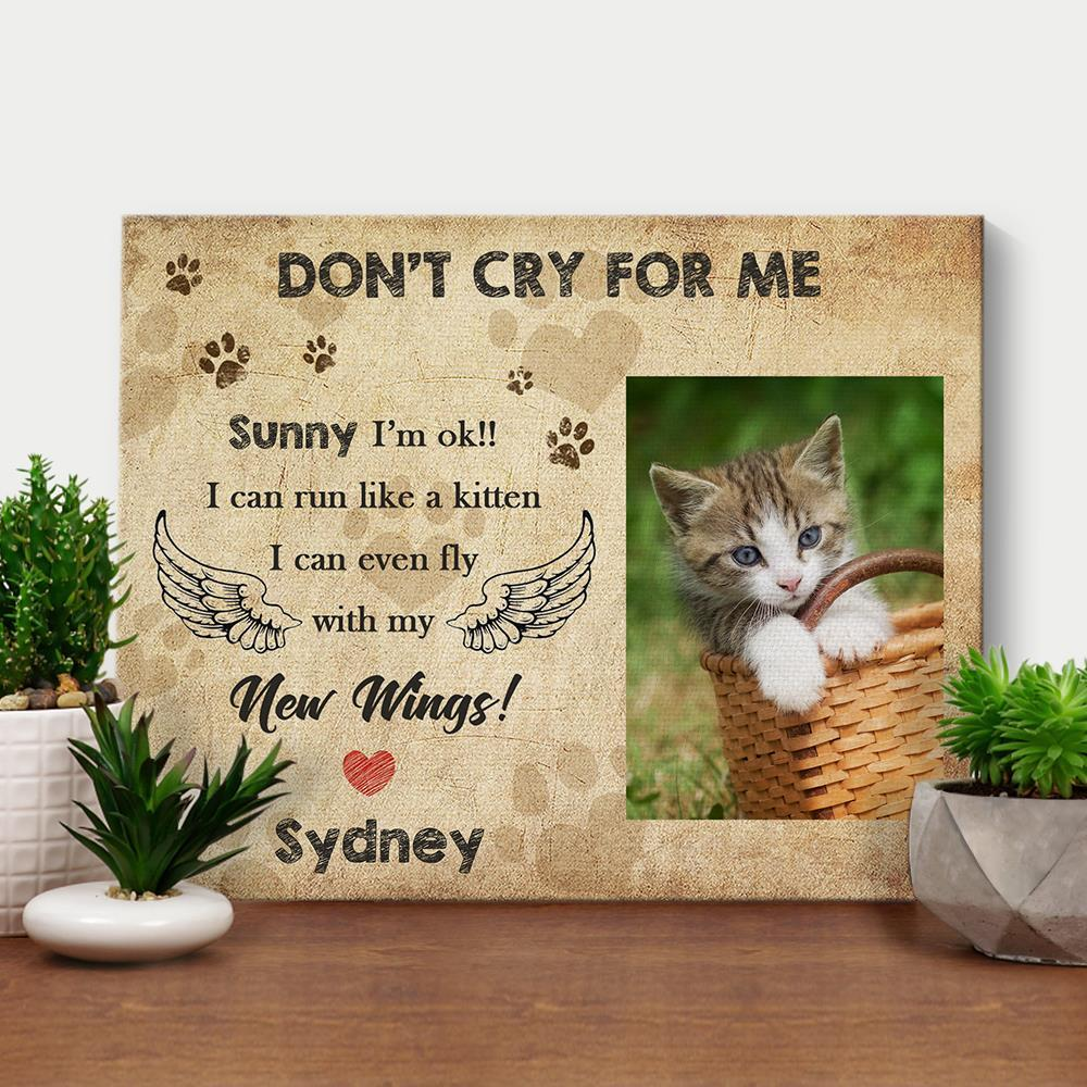 Custom Pictures on Wall Pet Memorial CAT Photo DIY Frame--Don't Cry for Me
