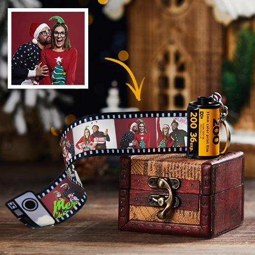 10 Photos Custom Photo Keychain MultiPhoto Camera Roll Keychain - Best Christmas Gift With Retro box