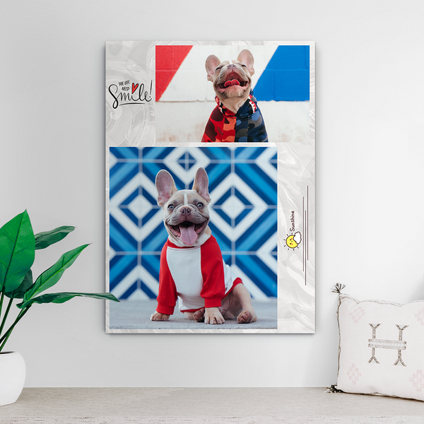 Custom Photo Collage Print-Canvas Photo Prints(Upload 2 Pictures)