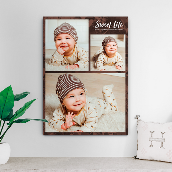 Custom Photo Collage Print-Photo Gift Ideas(Upload 3 Pictures)