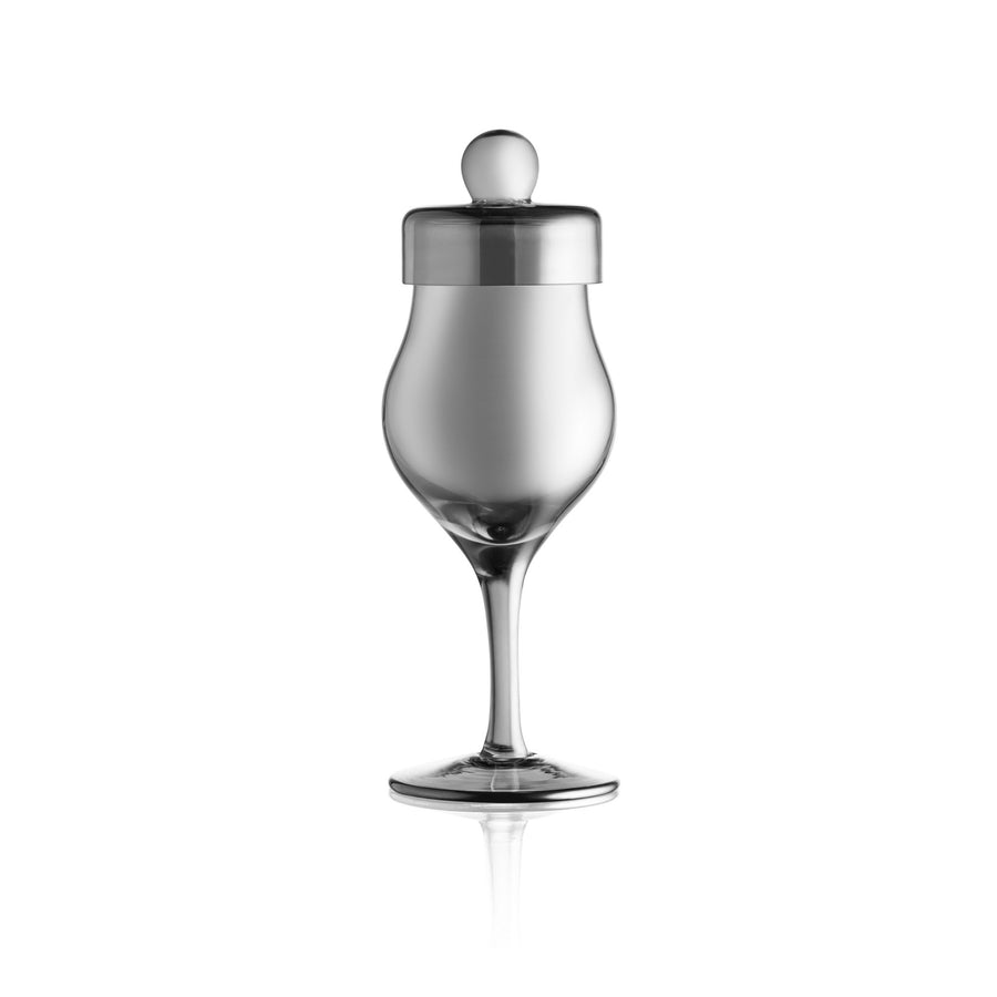 Unique Whiskey Glass with stem and included cover