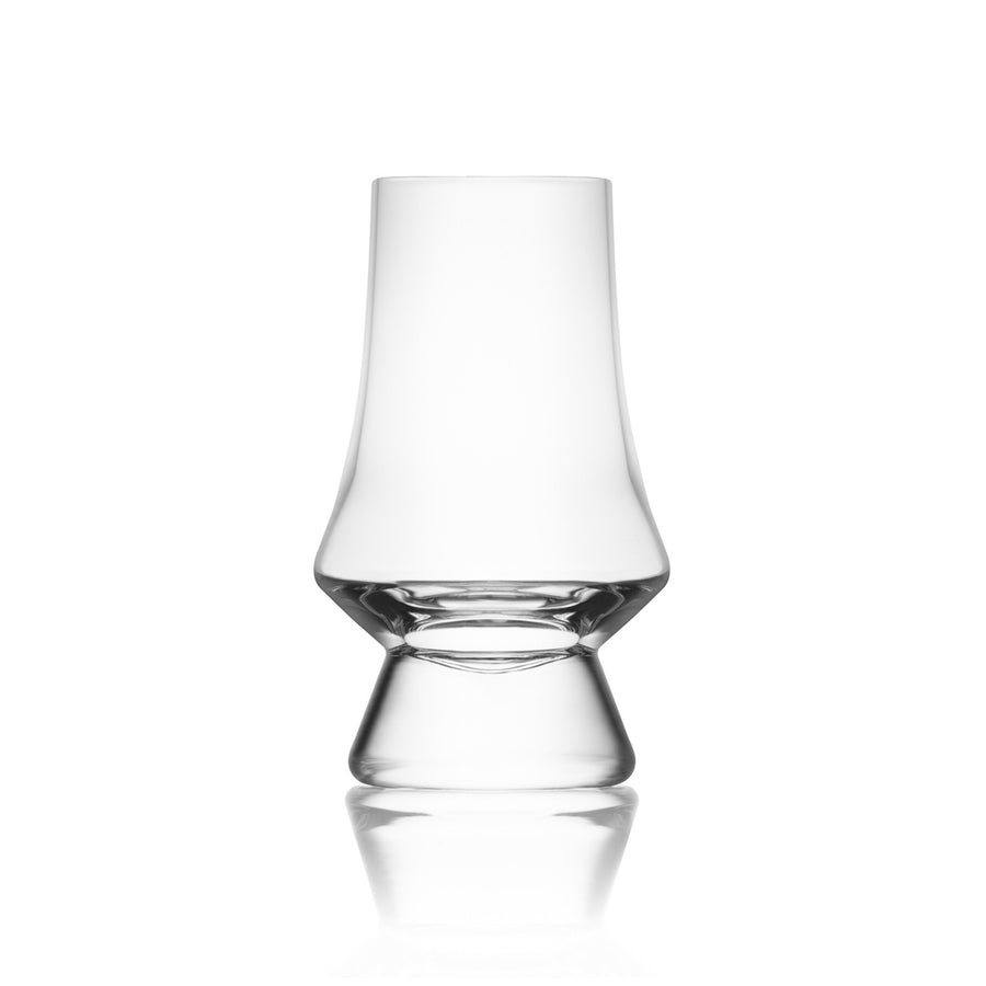 Handcrafted lance shaped Scotch Whiskey Glass with short base. Best whiskey glasses. Modern Glencairn