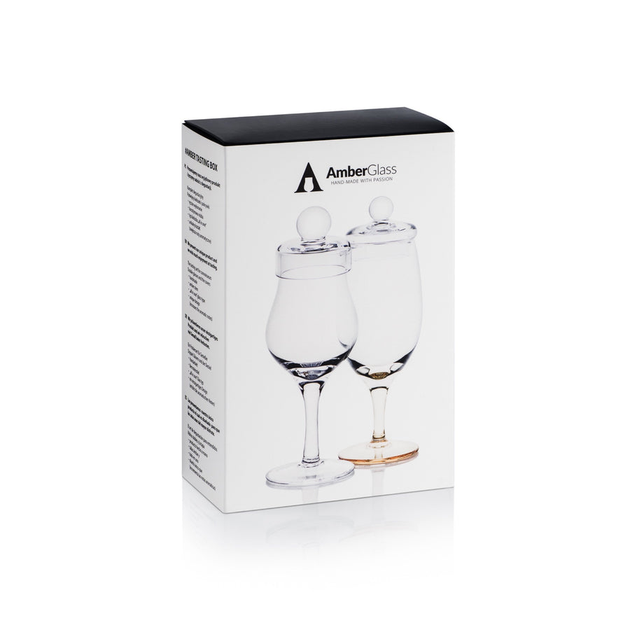 whiskey glass set outside box