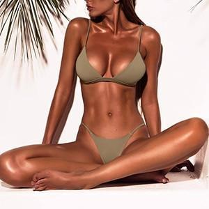 GREEN & GREY TROPICAL LOVE BIKINI