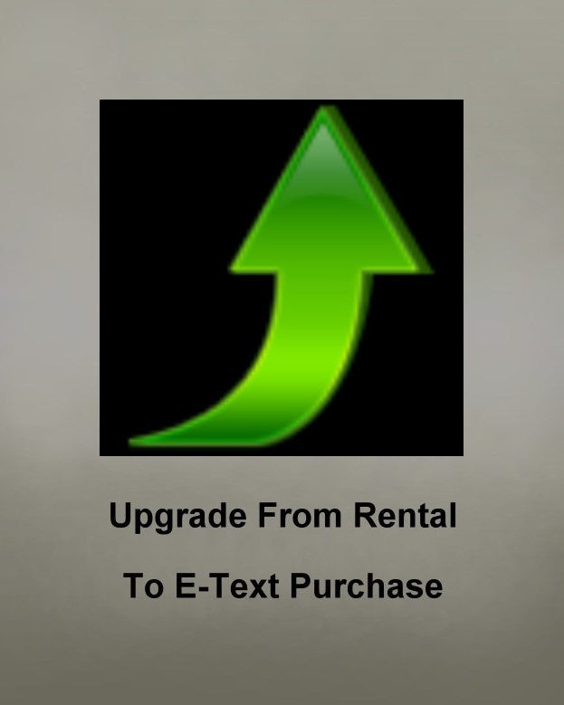 Upgrade - Convert a prior E-Text Rental to a Purchase (NOT FOR NEW CUSTOMERS)