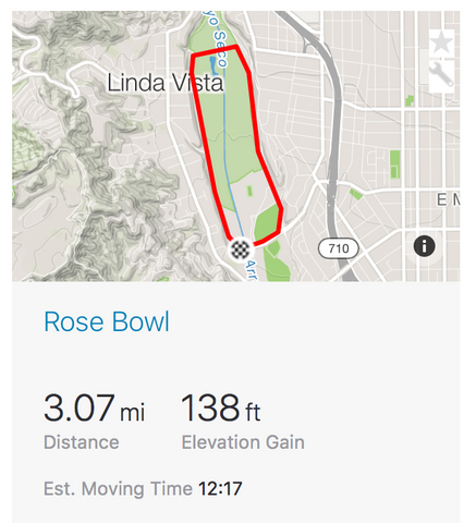Captura de pantalla de Rose Bowl Group Ride Strava