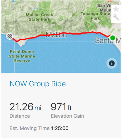 NOW Ride Santa Monica Strava mapa