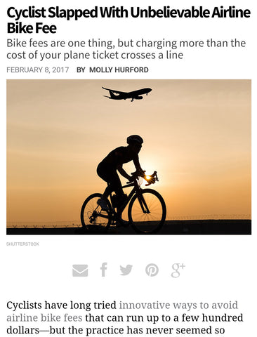 Bicycling bike fee article