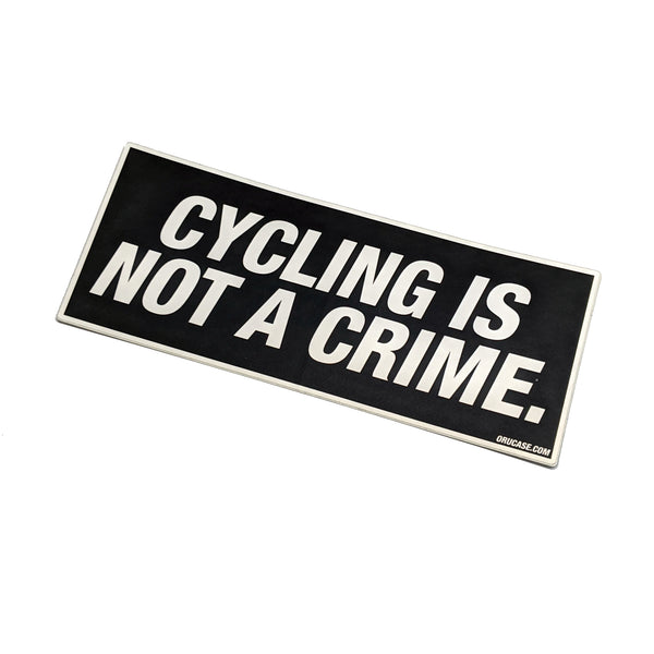 Cycling Is Not A Crime Sticker