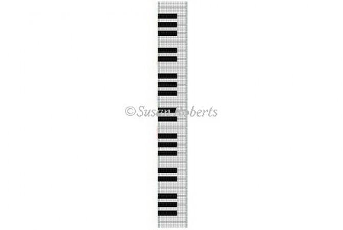 Piano Keys Key Fob