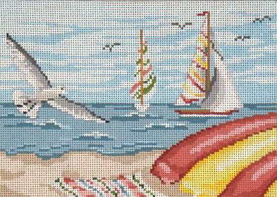 Seagulls & Sailboats 18 M