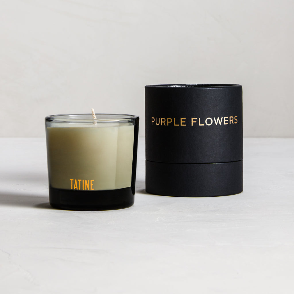 Purple Flowers Votive Candle by Tatine | Dark, Wild, + Deep Collection