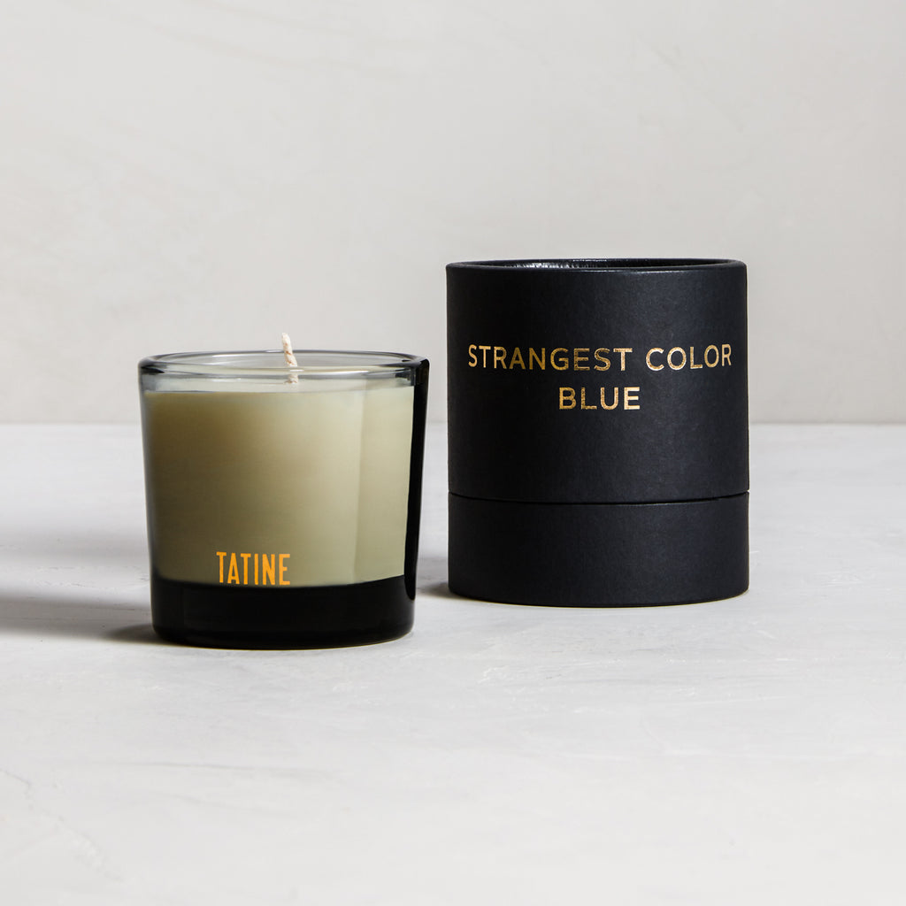 Strangest Color Blue Votive Candle by Tatine | Dark, Wild, + Deep Collection