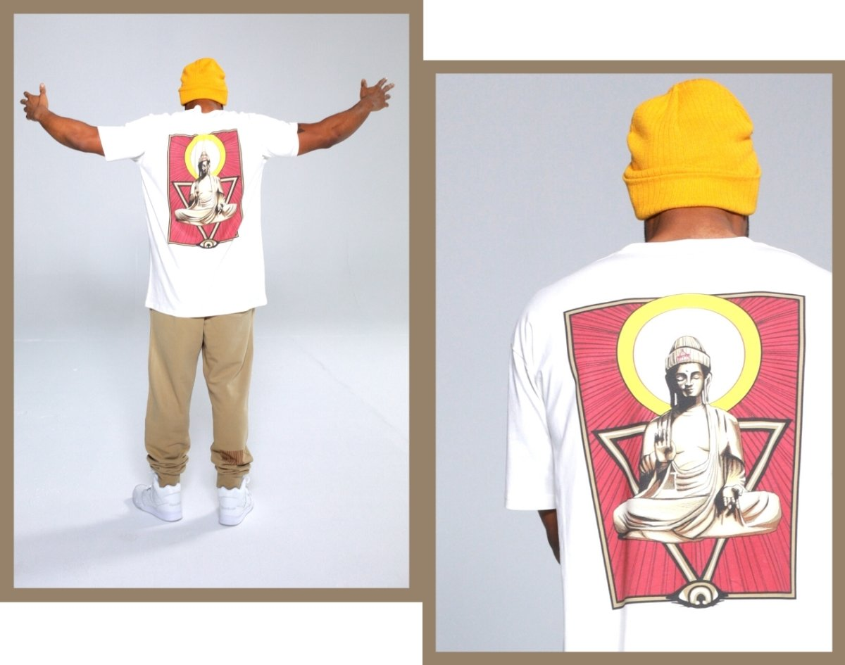 Buddha With Beanie Tee - Illusion Apparel Co.