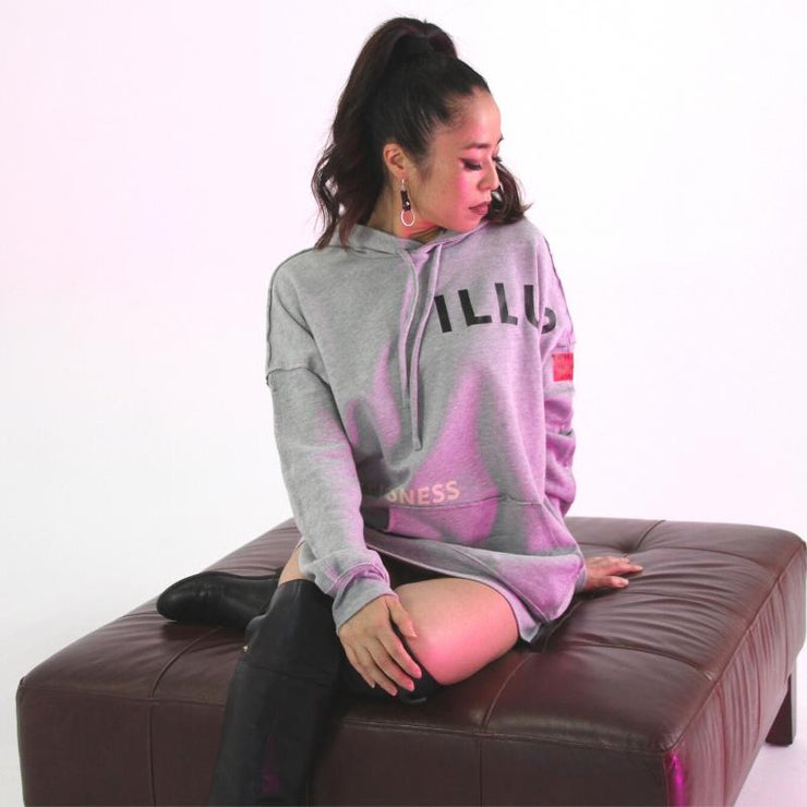 ELEVATE HOODIE - GREY - Illusion Apparel Co.