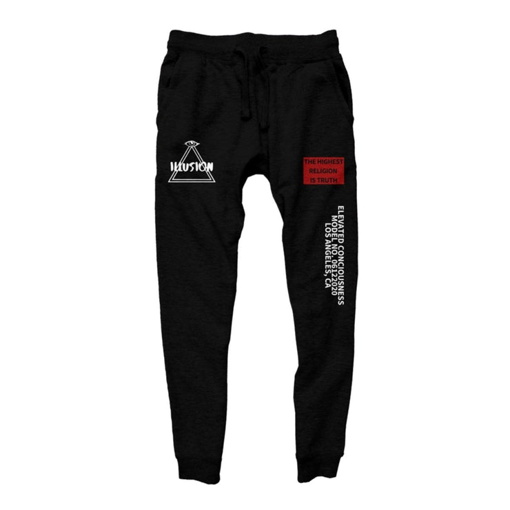 ELEVATE JOGGERS - BLACK - Illusion Apparel Co.