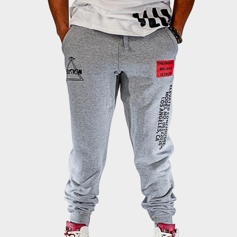ELEVATE JOGGERS - GREY - Illusion Apparel Co.