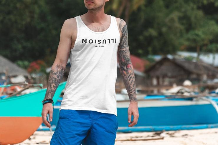 FLIP Men's Tank Top - White - Illusion Apparel Co.