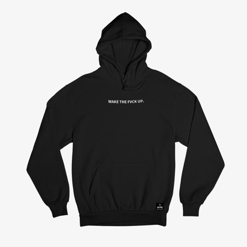 WAKE THE FVCK UP - Black Hoodie - Illusion Apparel Co.