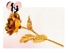 Load image into Gallery viewer, 24k Gold Foil Trim Gold Rose Flower - Gift Canadian
