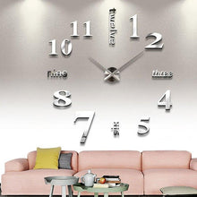 Load image into Gallery viewer, 3D Acrylic Mirror Quartz Wall Clock - Gift Canadian