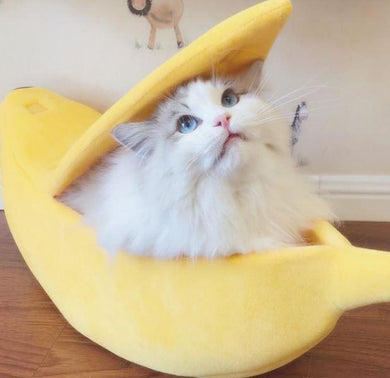 Banana Shape Pet Bed House - Gift Canadian