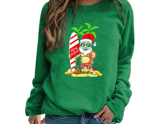 Santa Claus Hoodies Women Sweatshirt