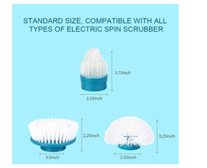 Replacement Brush Heads for Hurricane Spin Scrubber with Multi-Function Set of 3 - Gift Canadian