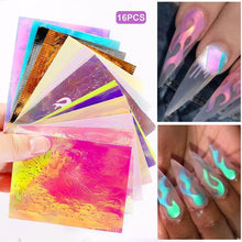 Load image into Gallery viewer, Laser Illusion Flame Nail Sticker - Gift Canadian