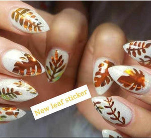 Laser Illusion Flame Nail Sticker - Gift Canadian