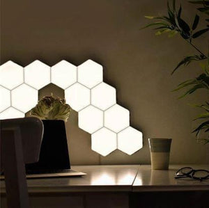 LED Hexagon Magnetic Touch Wall Lamp - Gift Canadian