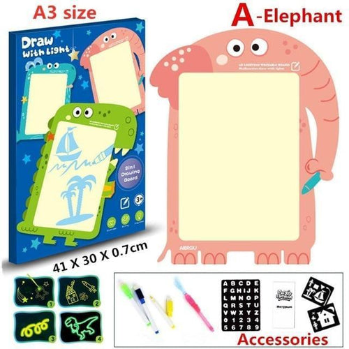LED Luminous Drawing Board Graffiti Doodle Educational Toy - Gift Canadian