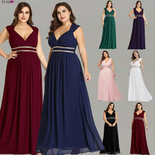 Load image into Gallery viewer, Long Women's Elegant V Neck Chiffon Empire Gown - Gift Canadian
